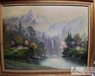 #4637 • Signed Framed Painting