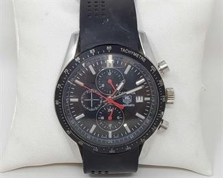 1110: Tag Heuer Carrera Automatic Watch - NOT AUTHENTICATED Marked WJ1110 and SQ4820 measures approx 40mm