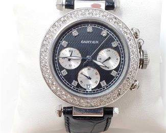 1121: Cartier Swiss Made Wrist Watch - NOT AUTHENTICATED Measures approx 43mm