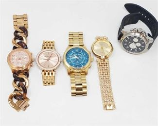 1127: 4 Michael Kors Watches Measures approx 45mm