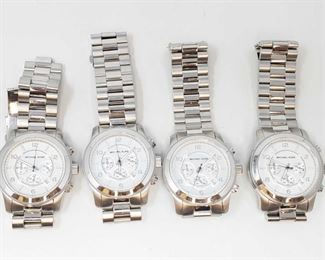 1128: 4 Michael Kors Watches Measures approx 45mm