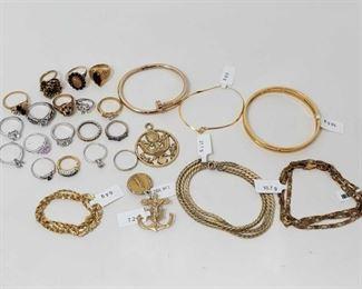 #1300 • Miscellaneous Costume Jewelry
