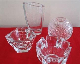 Orrefors glass bowls