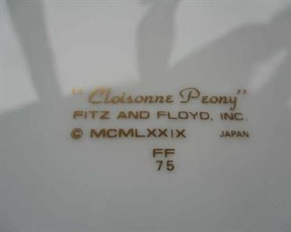 Mark on bottom of Fitz & Floyd dishes set