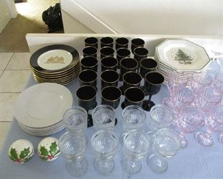 Stemware and dishes