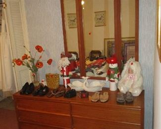 Dresser and household items