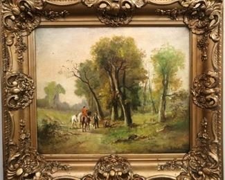 Oil on Canvas landscape by A. Dufore