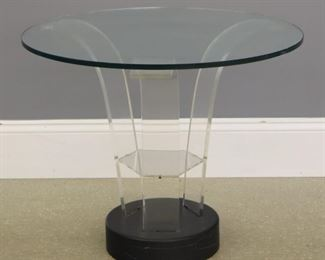 Mid Mod Lucite end table