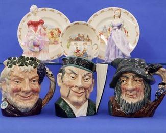 Royal Doulton figurines and character mugs