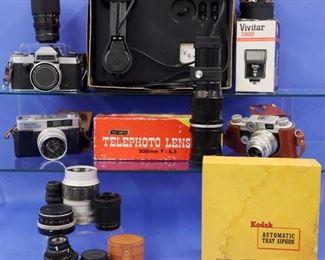 35 mm Cameras incl Argus, Praktica, Fujica and accessories