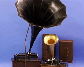 Edison cylinder phonographs