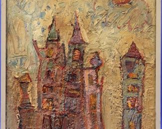 Richard Jerzy Oil on Masonite