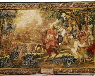 Large printed tapestry