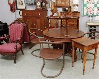 Sheraton maple table, MidMod chair set