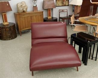 """Adrian Pearsall Wave Lounge Chair, Mark Stam Cantilever Chairs,60"""" table"""