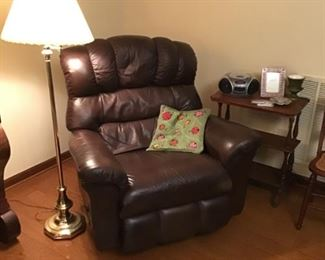 Large leather recliner