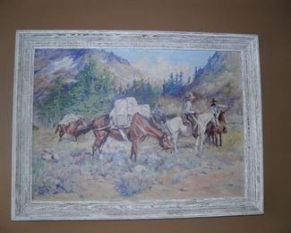 ORIGINAL PAINTING BY OLE LARSEN 1935