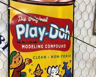 Metal Play-Doh Sign