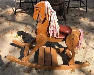Children's Wooden Horse Rocker