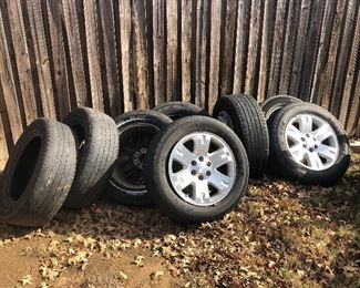 2008 GMC Sierra Rims with Tires