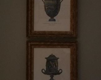 Inglese urn renderings done for the English trade 18th c. these prints are inscribed with the explaination of their intended estates. (decorative)
