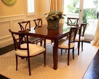 Henredon Parsons Style Dining Table & Baker Chairs
