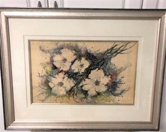 Susan Jordan Watercolor Flower Painting