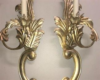 French Rococo Style Dennis and Leen Sconces Pair