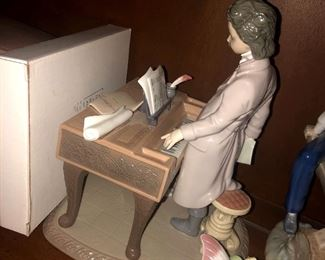 Lladro Young Beethoven signed by Juan Lladro with framed certificate of authenticity.