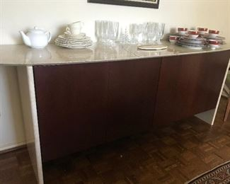 Modern Buffet with Marble Top and Sides