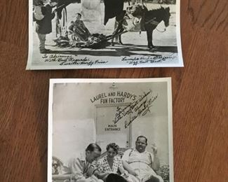 Autographed Laurel & Hardy Photos