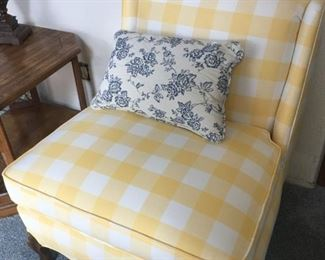 Yellow Plaid Chair