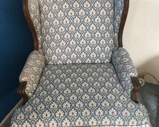 Blue Print Arm Chair