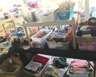 Misc. Sewing - Lots of Fabric - Notions