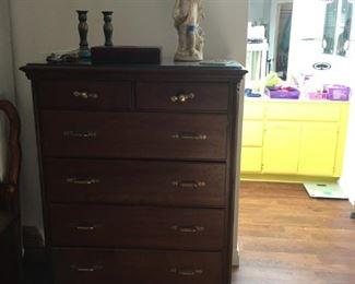 Tall Brown Dresser