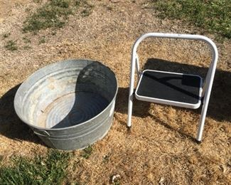 Misc. Stepstool & Metal Bucket