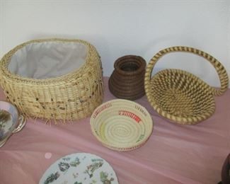 Group of American Indian baskets
