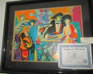 Jazz Club Serigraph by Philip Maxwell-- family paid a tremendous price for it-- we will ask a  few hundred dollars (if that much) for it. Cost over $500. Selling it for $125.