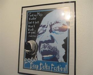 Muddy Waters rare Poster for DEEP DELTA FESTIVAL
