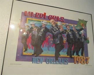 Mardi Gras Poster-- 1987-- Pete Fountain's HALF FAST WALKING CLUB