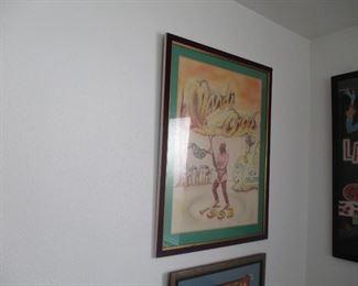 New Orleans flambeau dancer-- original crayon drawing