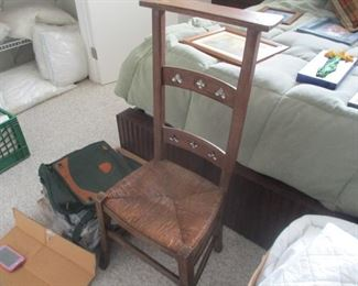 19th century French Provincial pre-dieu with rush seat