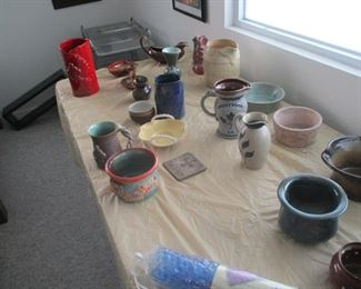Large collection of New Orleans and Southern pottery