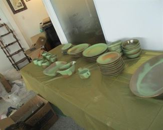 Frankoma dinner set  for 8. This is rare.