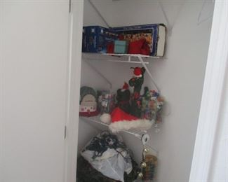 ENTRE CLOSET of Christmas related items-- one low price