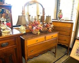 Antique Dresser and Decos