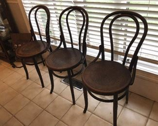 Bistro Bentwood chairs (3)