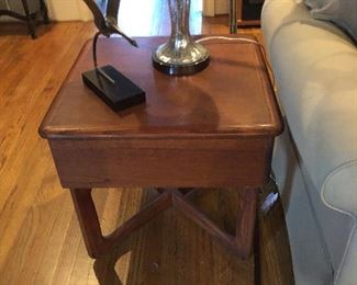 Pair teak end tables!