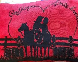 Roy Rogers & Dale Evans throw pillow - sweet!