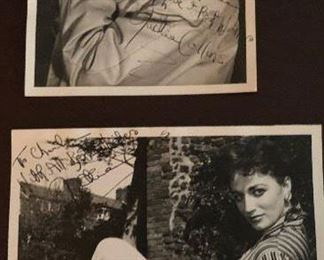 Jackie Collins - original signed pictures